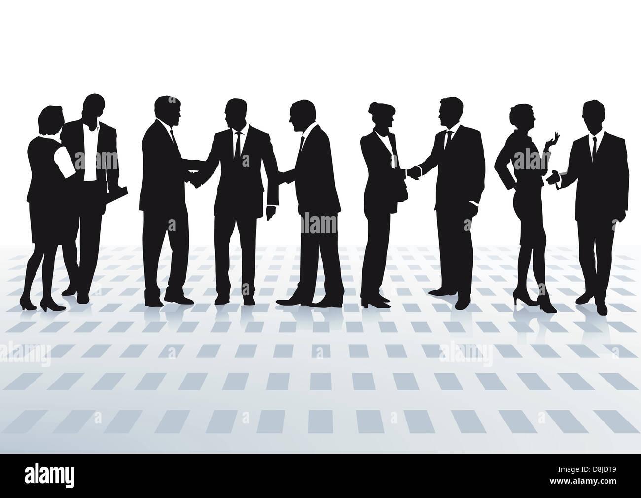 receive meeting - Stock Image