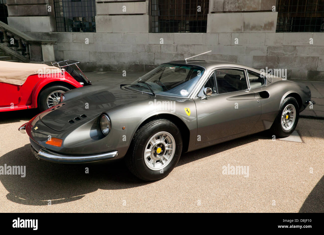 A Ferrari Dino on display at the Old Royal Naval College, Greenwich. - Stock Image