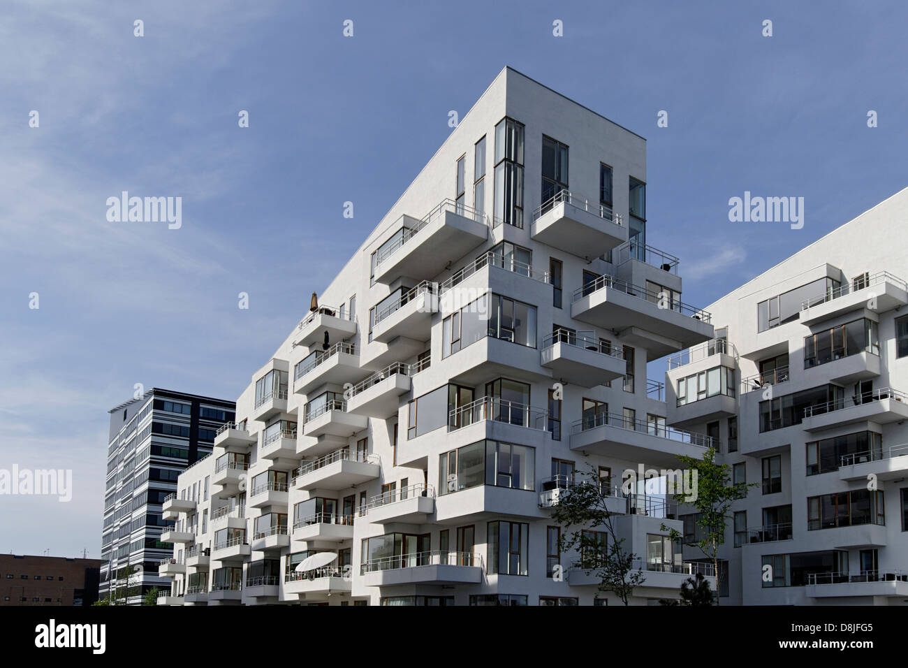 Modern apartment buildings, Copenhagen, Denmark Stock Photo ...