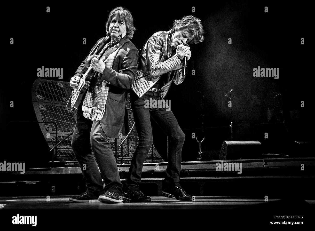 Mick Jagger & Mick Taylor of the Rolling Stones during their '50 & Counting' tour in Toronto, Canada. - Stock Image