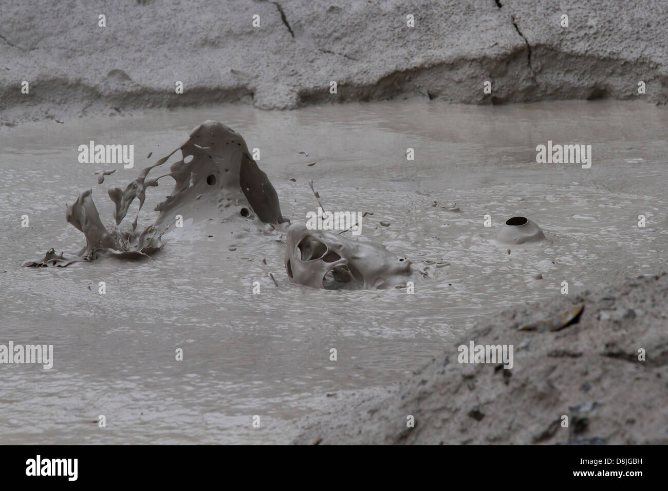 Mud Pots, Pilas de barro, Bubble, Rincon de la Vieja National Park, Costa Rica - Stock Image