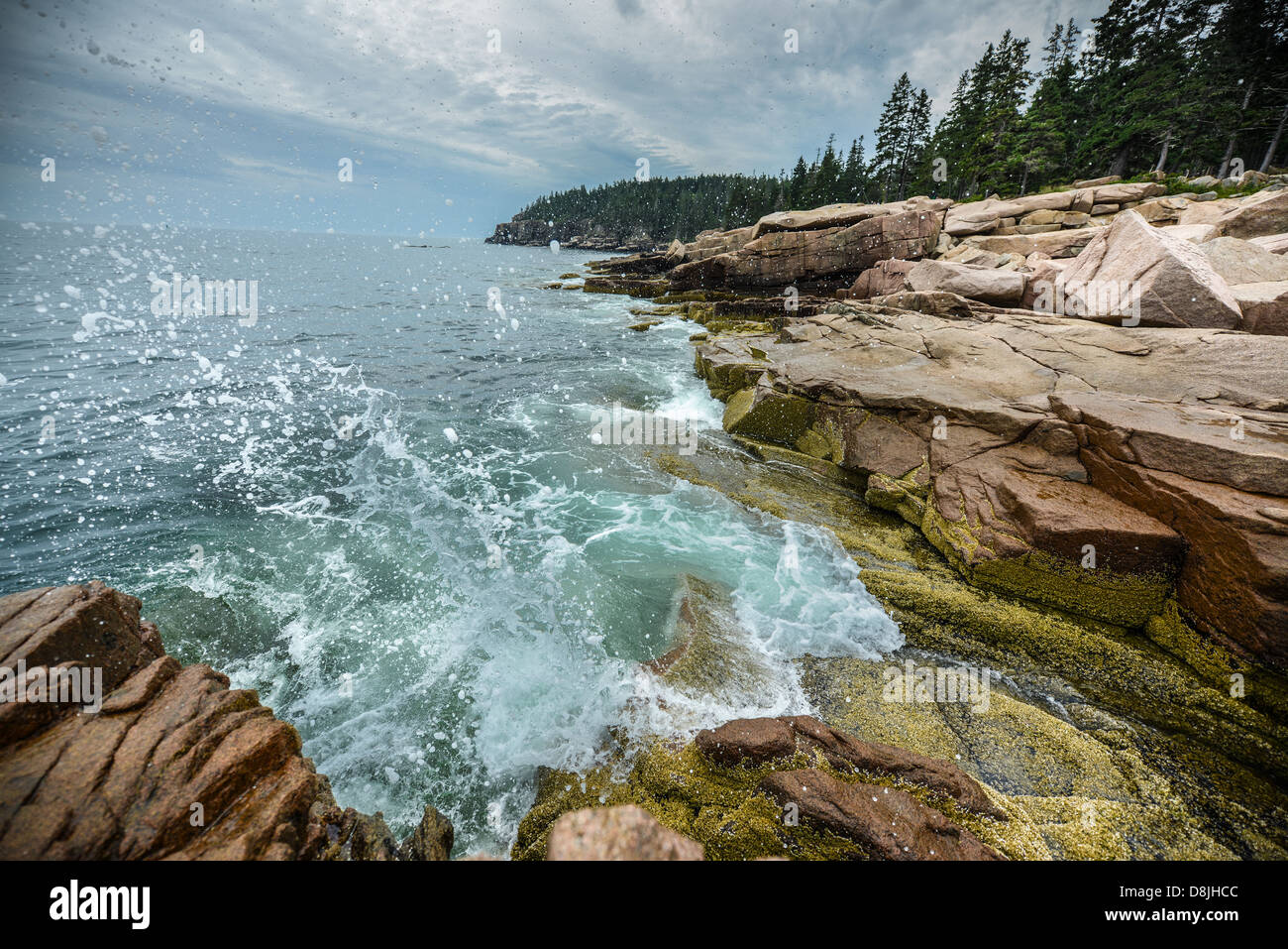 Cliffs of Acadia National Park in Maine, USA Stock Photo