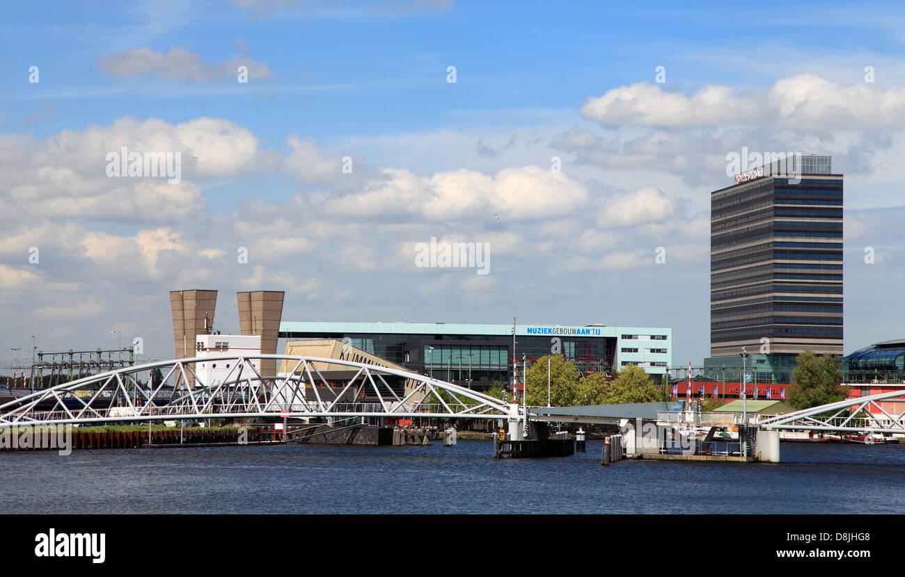 Netherlands, Amsterdam, Muziekgebouw aan't IJ, Movenpick Hotel, Oosterdok, - Stock Image
