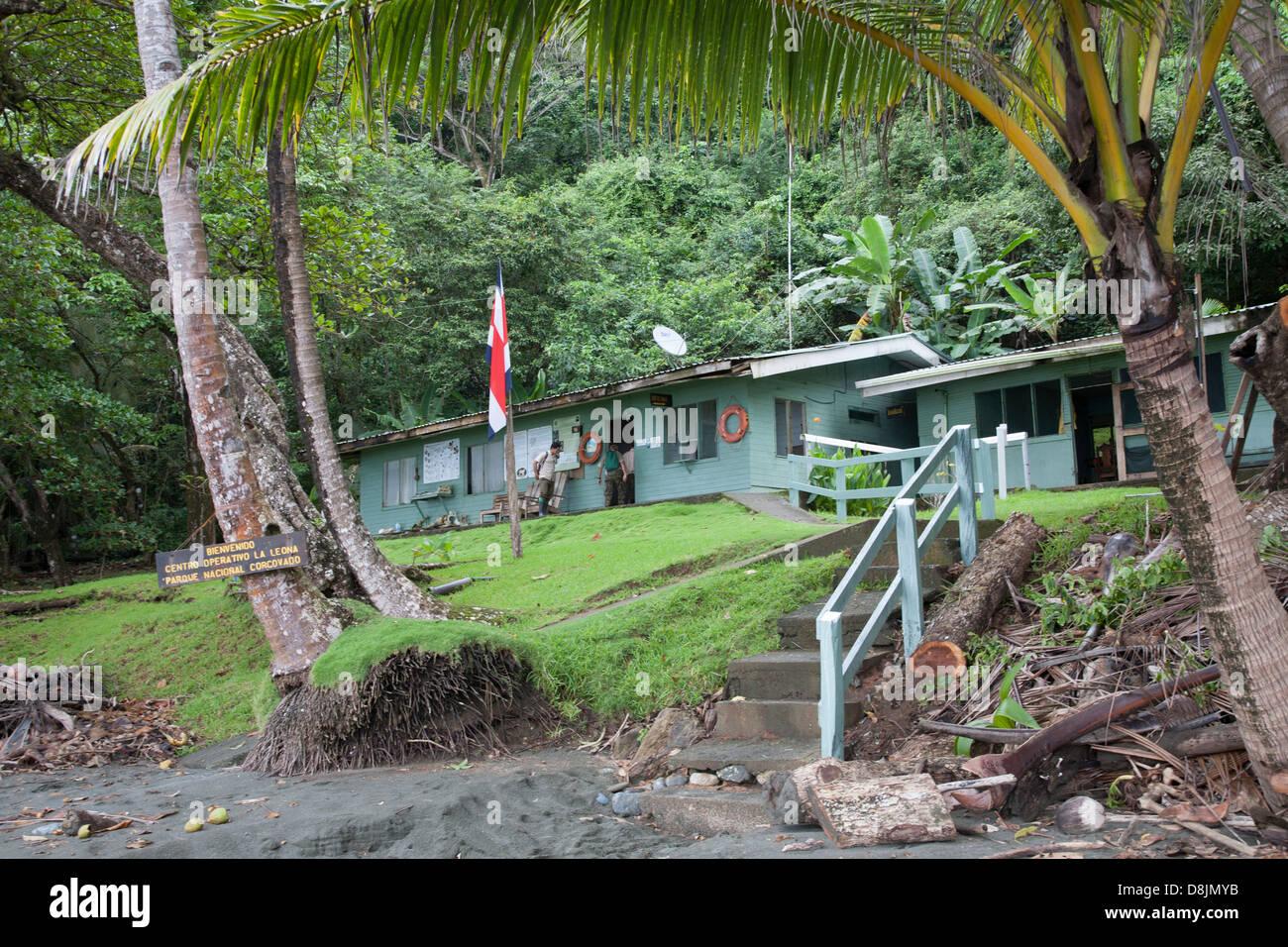 La Leona, Park Entrance, Corcovado National Park, Costa Rica - Stock Image