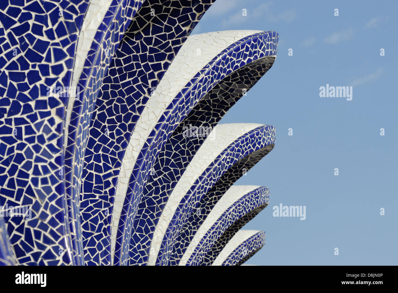 L'Umbracle, City of Arts and Sciences, Valencia, Spain - Stock Image