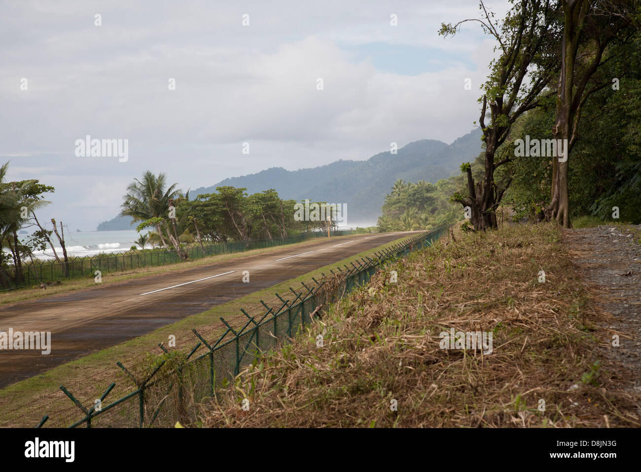 Airstrip near Carate, Corcovado National Park, Osa Peninsula, Costa Rica - Stock Image