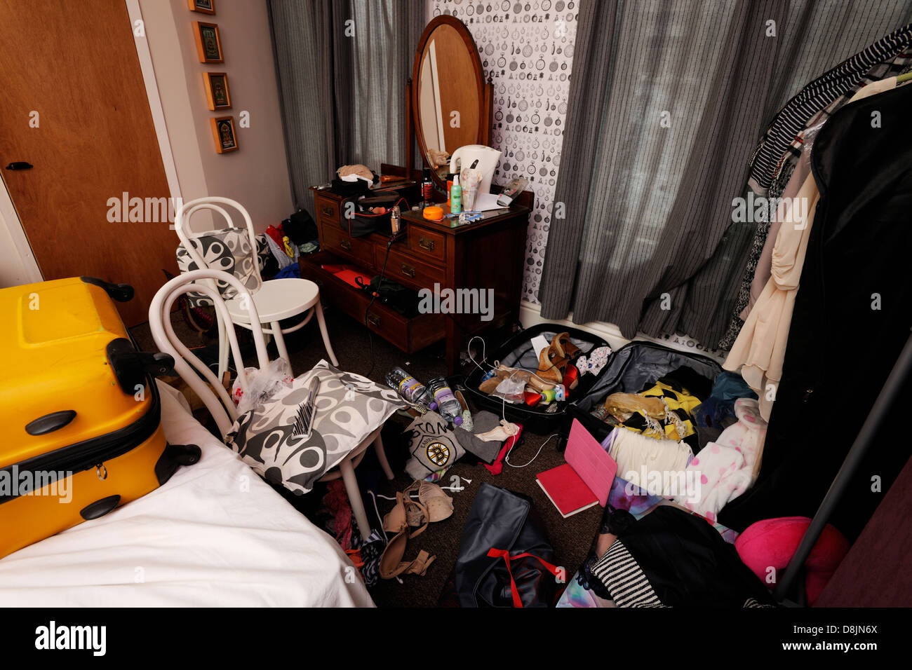 messy room - Stock Image