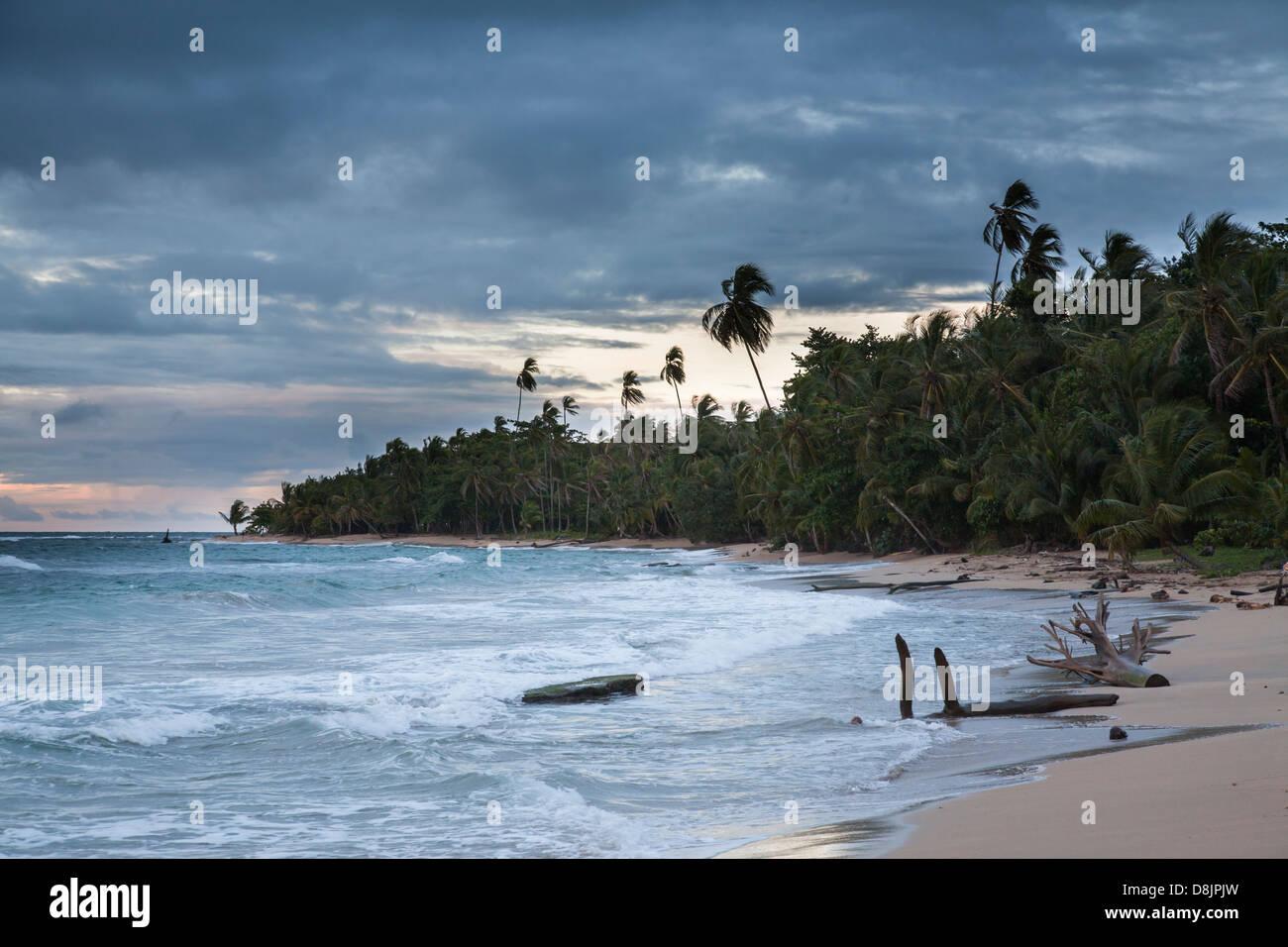 Punta Uva Beach, between Puerto Viejo and Manzanillo, Costa Rica - Stock Image