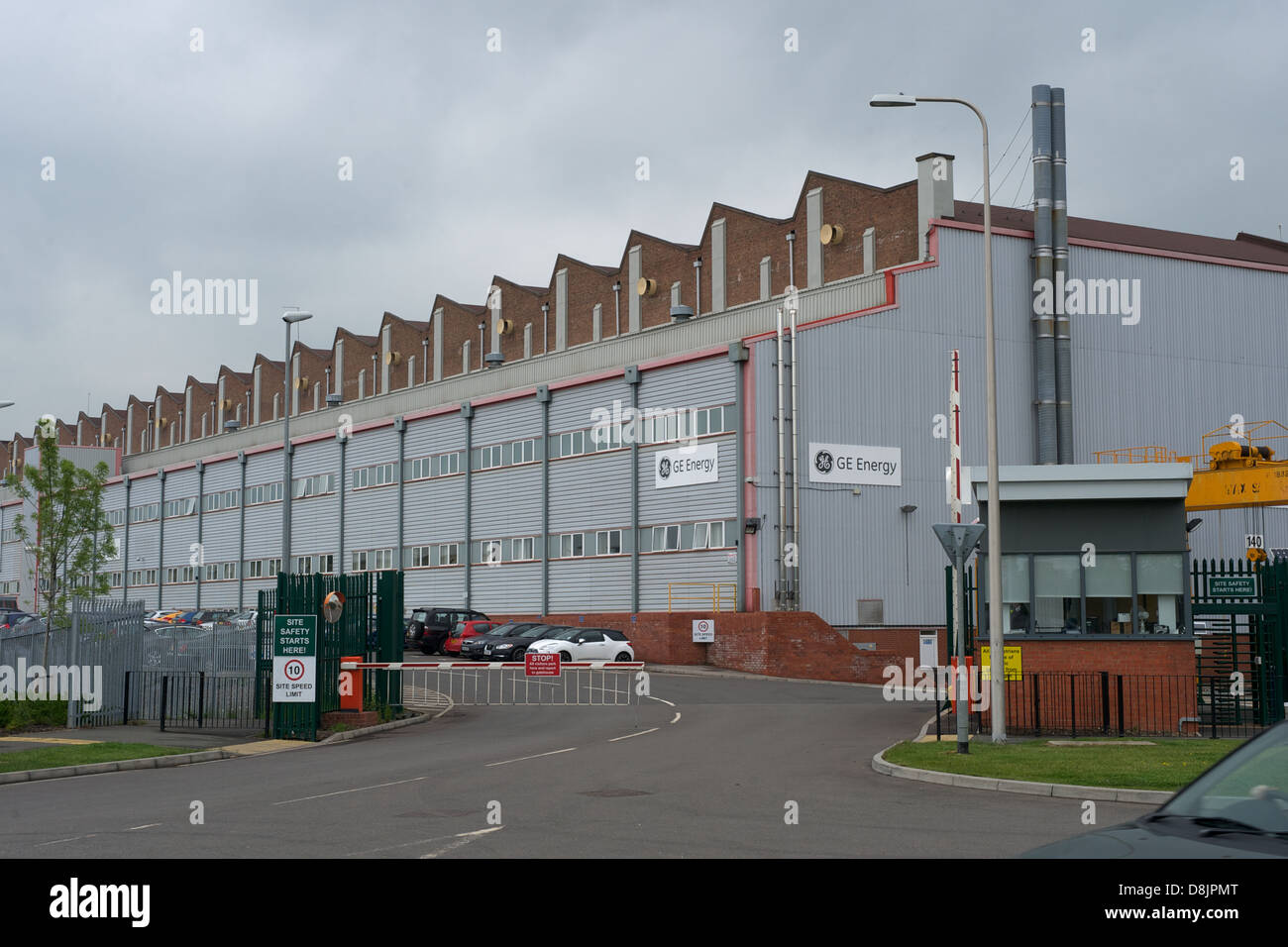 GEC Energy, Rugby. Main Entrance.Technology Drive, Rugby. Stock Photo