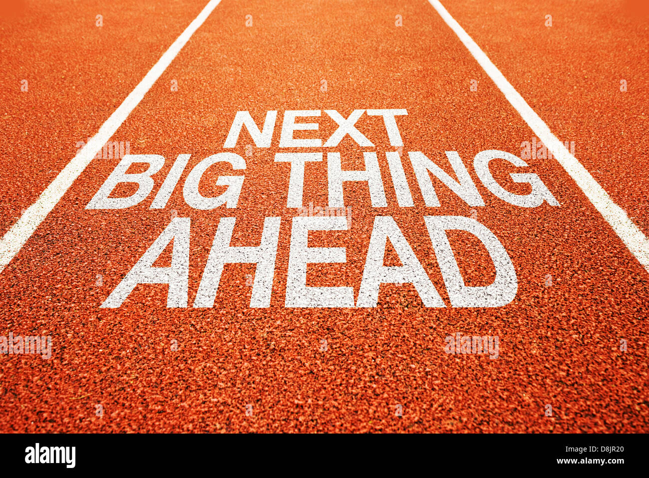 Next big thing ahead on athletics all weather running track - Stock Image