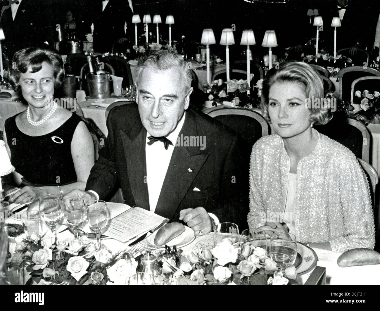 PRINCESS GRACE OF MONACO with Louis Mountbatten about 1965 - Stock Image