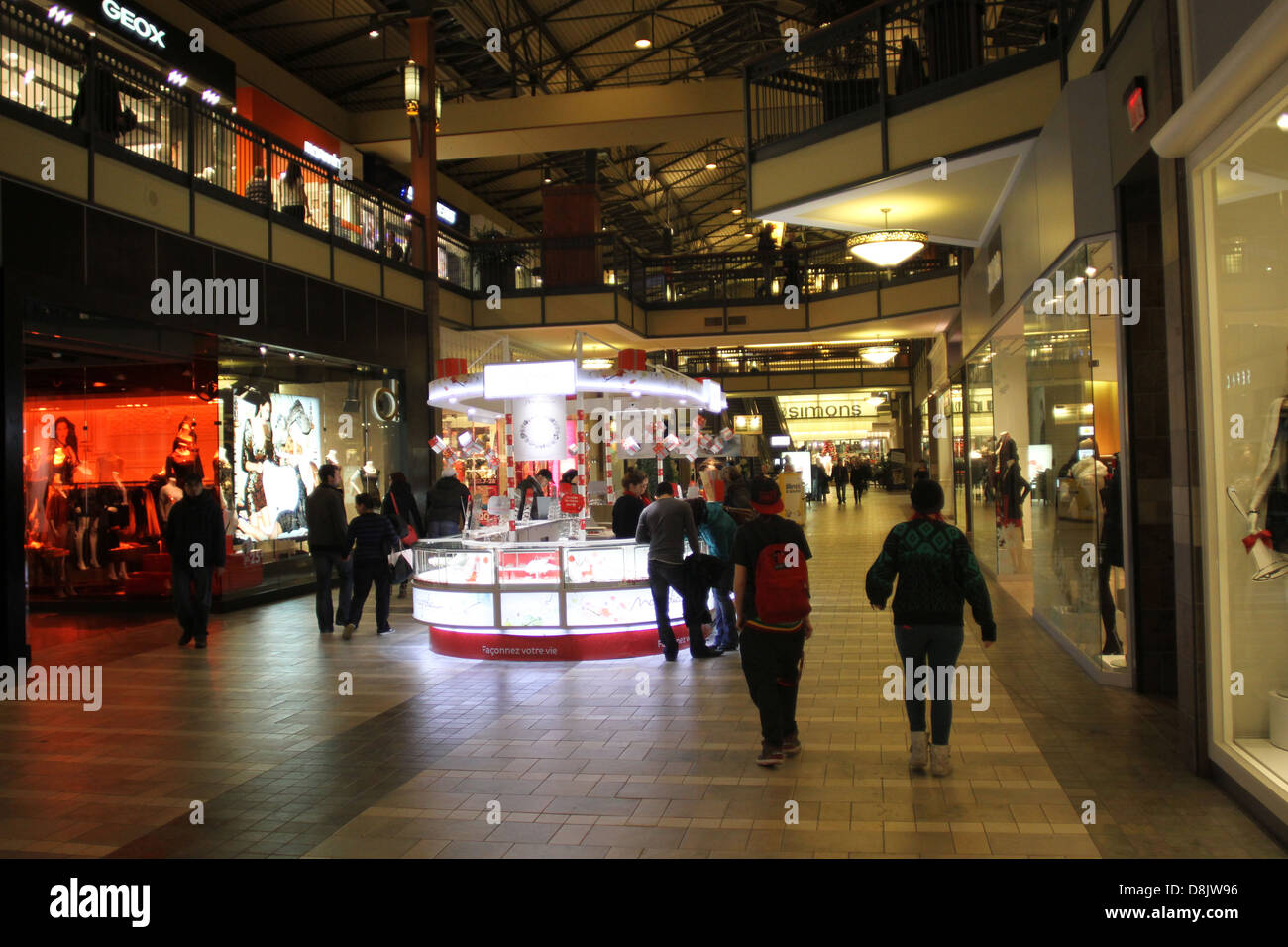 Holiday shoppers at the Promenades shopping mall in St-Bruno , - Stock Image