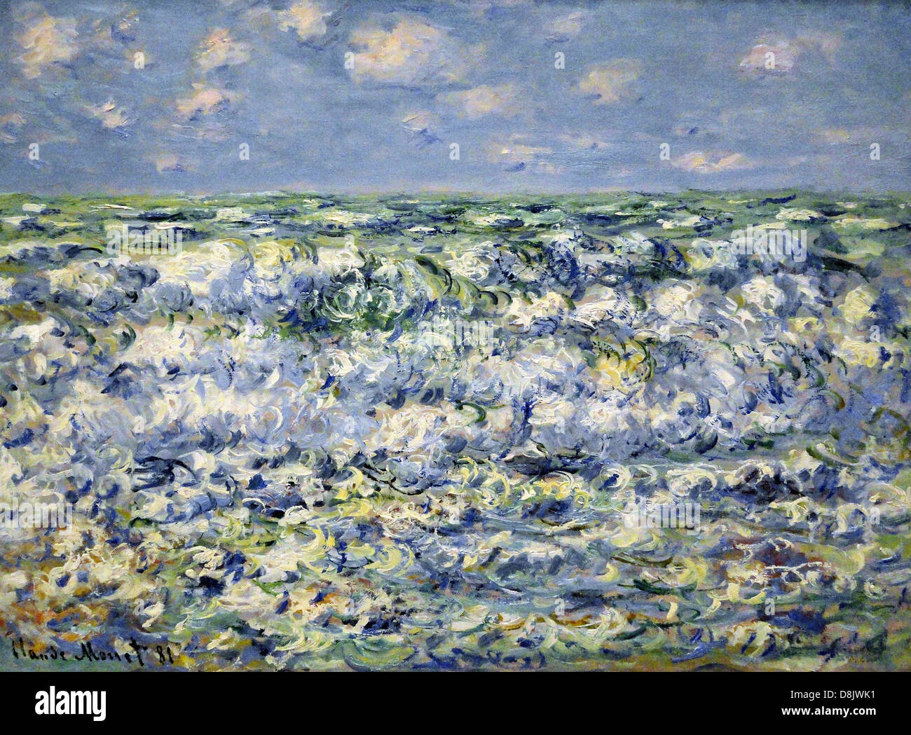 Claude Monet The Waves Breaking Legion of Honor Museum - San Francisco - Stock Image