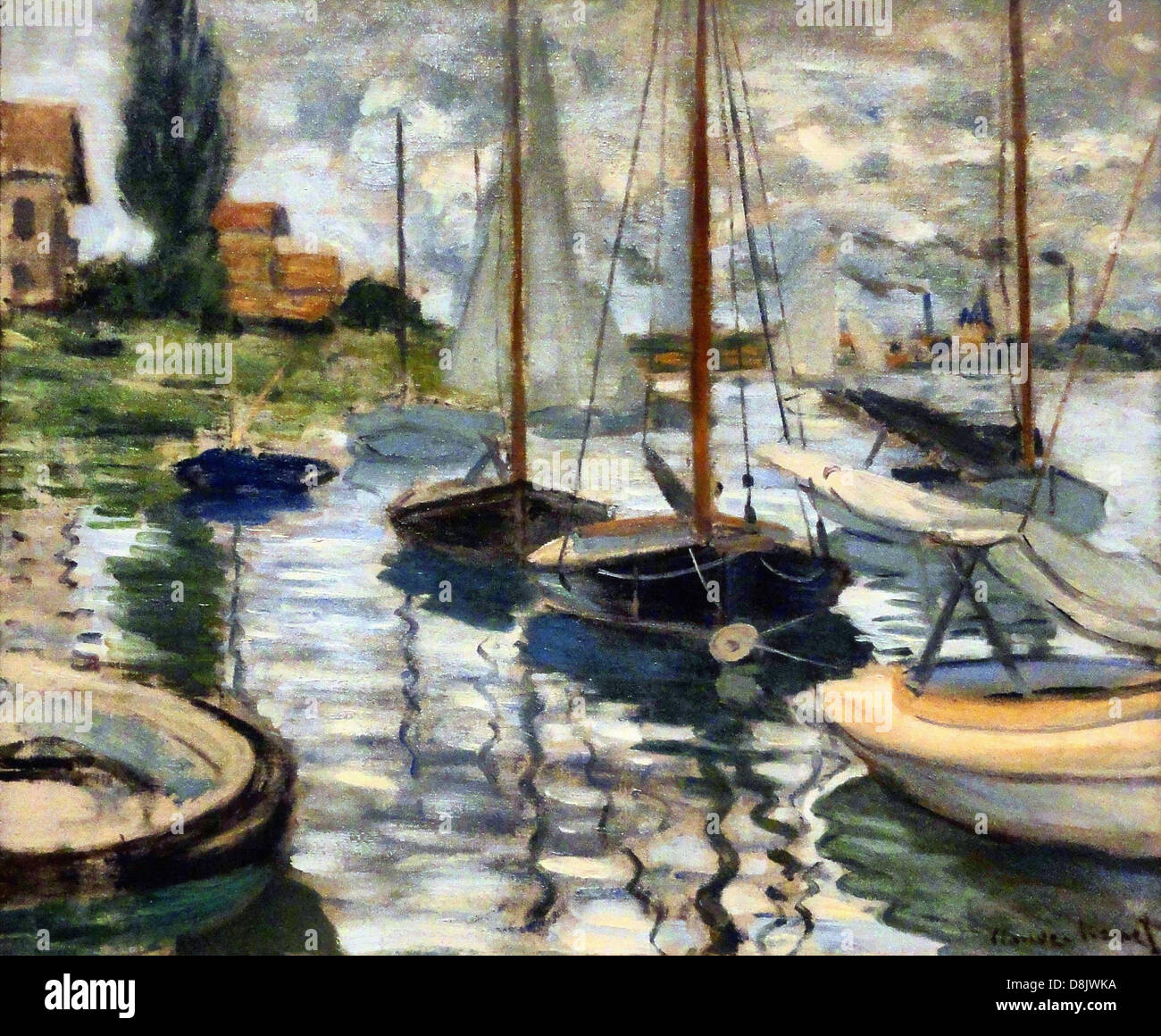 Claude Monet  SailBoats On The Seine Legion of Honor Museum - San Francisco - Stock Image