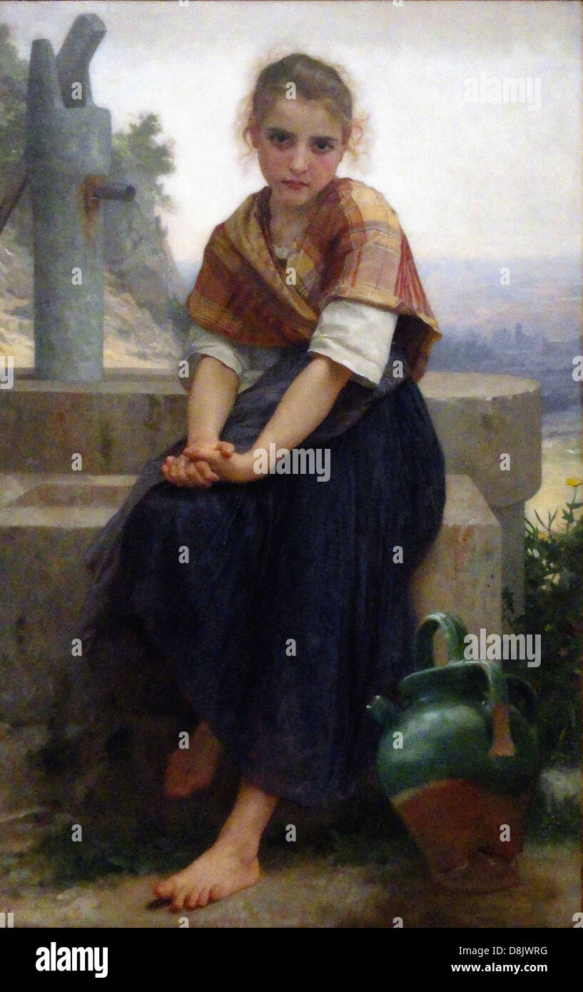 Bouguereau The Broken Pitcher Legion of Honor Museum - San Francisco - Stock Image