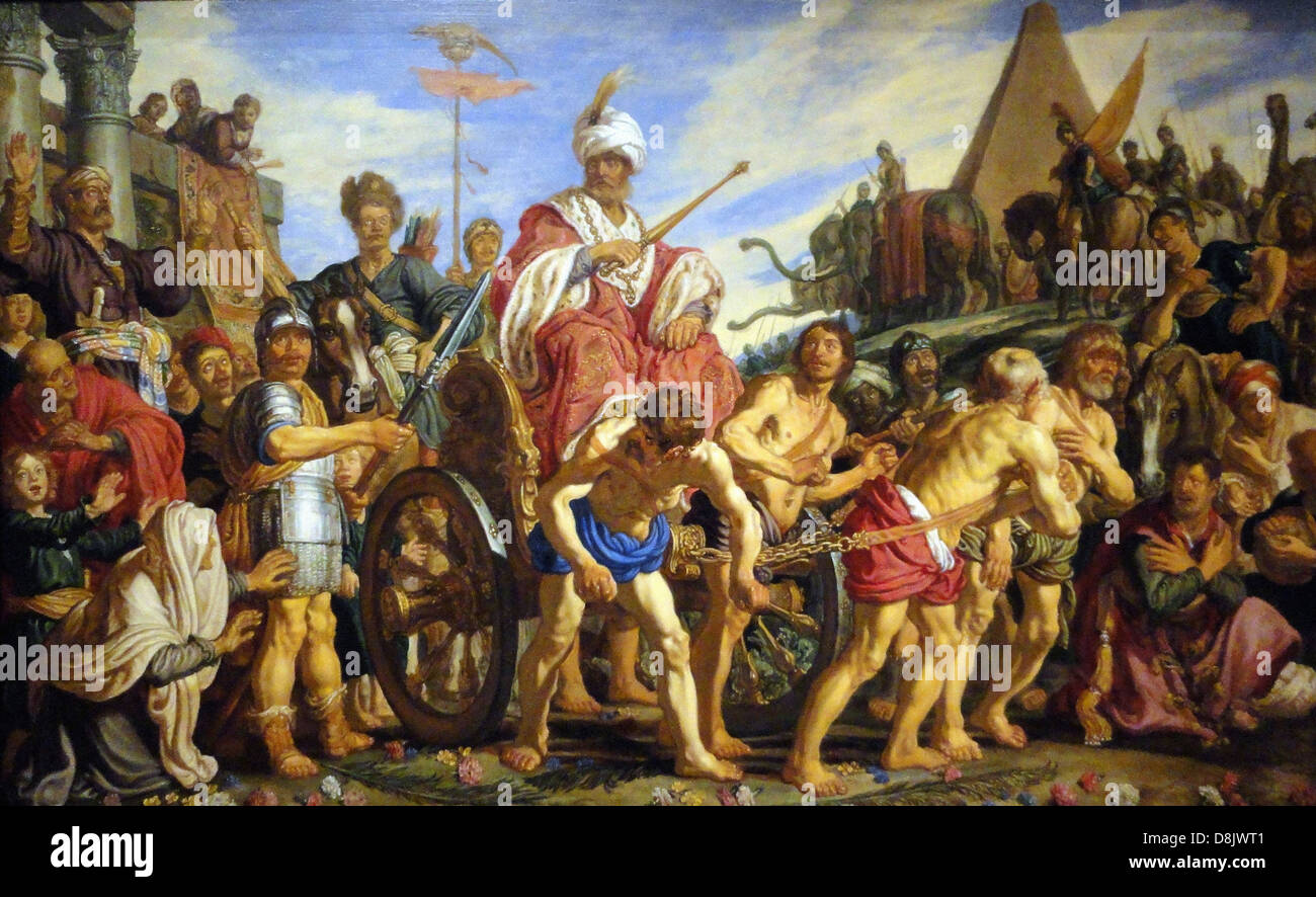 Pieter Lastman The Triumph Of Sesostris Legion of Honor Museum - San Francisco - Stock Image