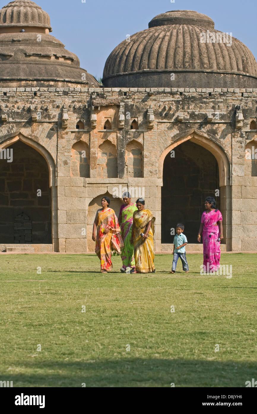Asia, India, Karnataka, Hampi,Elephant Stables - Stock Image