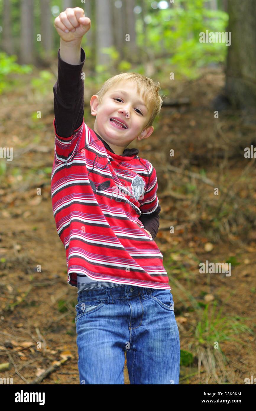 Optimistic boy. - Stock Image