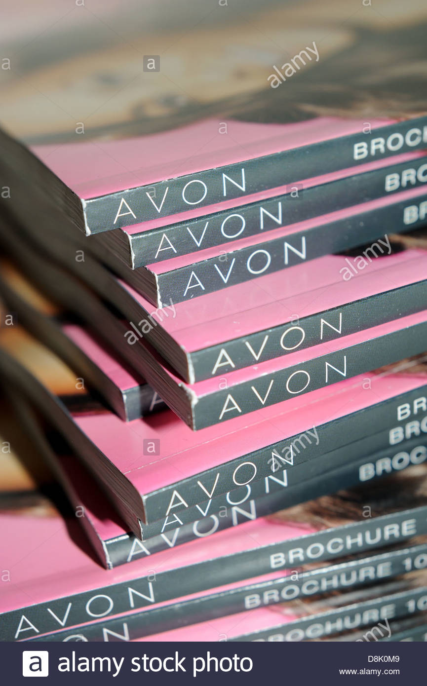 Avon catalogues. - Stock Image