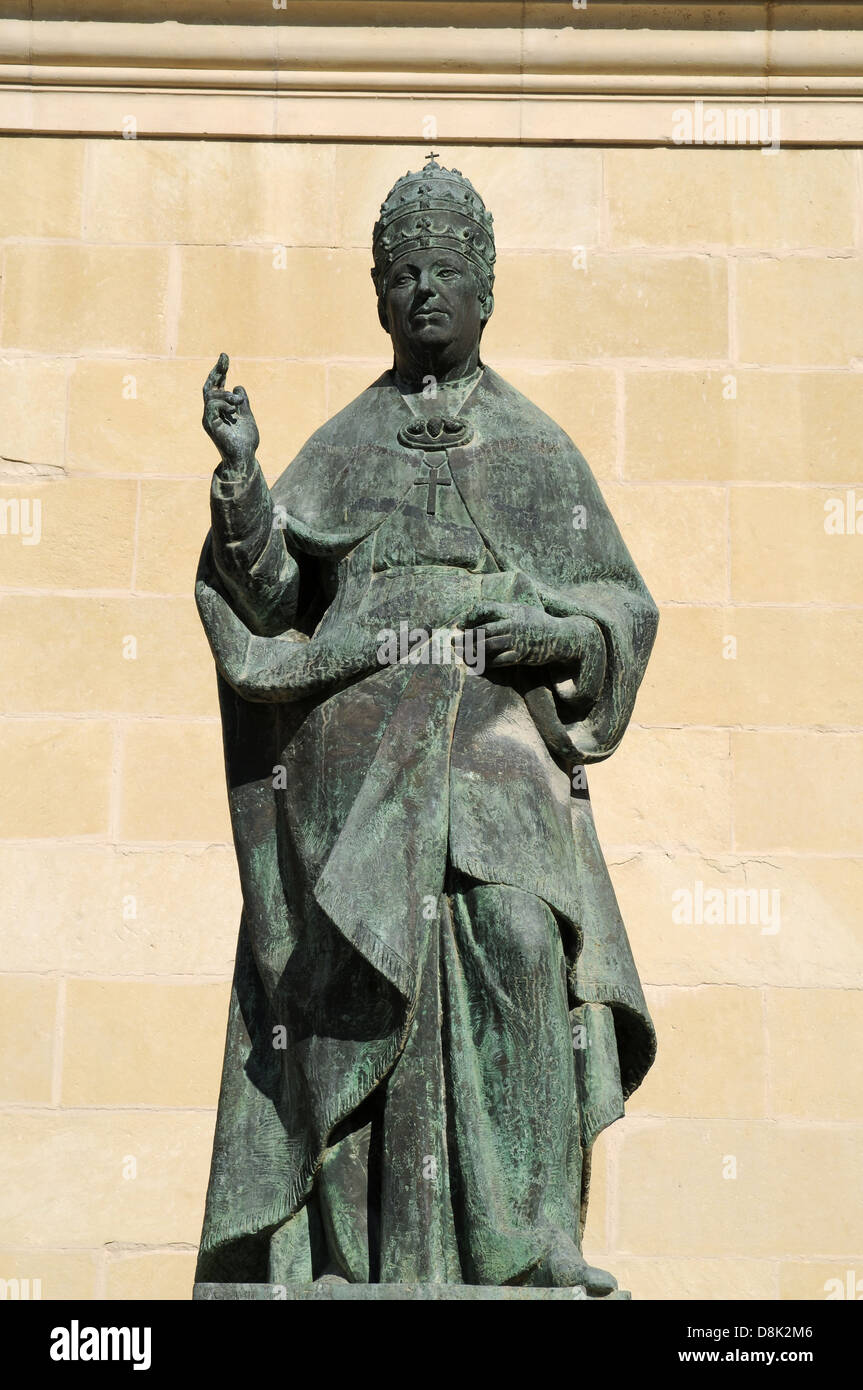 Statue of Pope - Stock Image