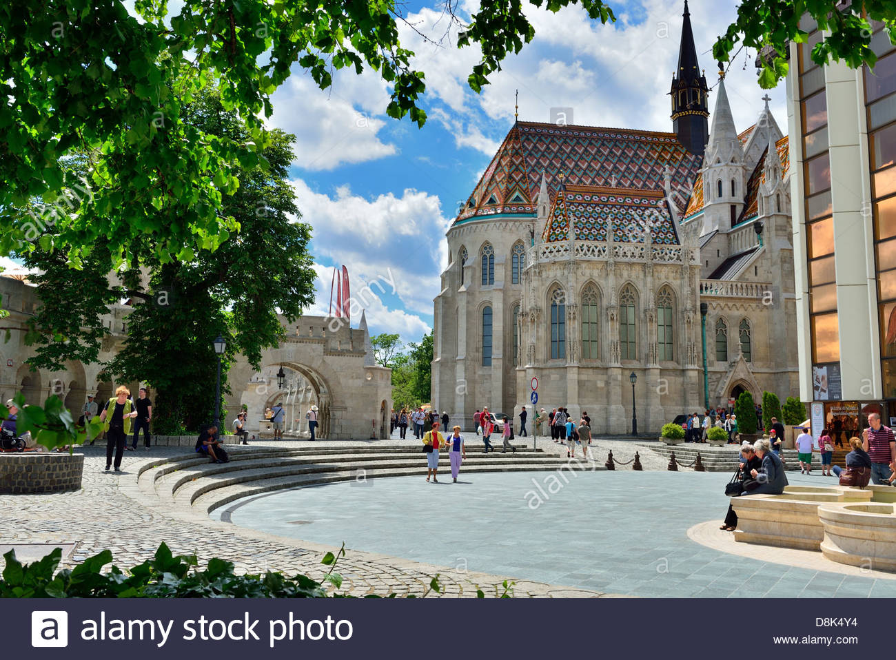 Fishermans bastion and Matyas Church in Budapest - Stock Image