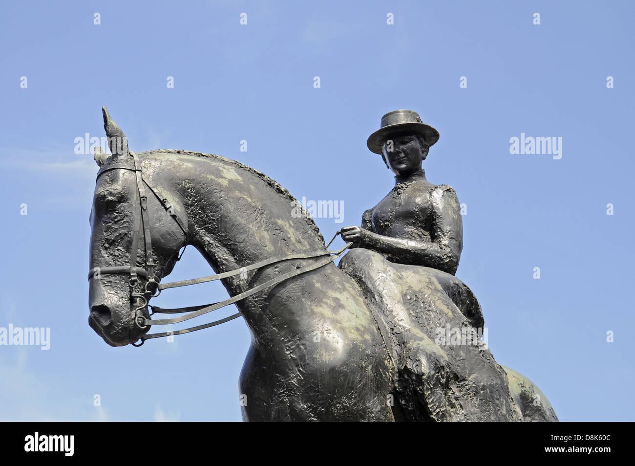 Equestrian statue Stock Photo