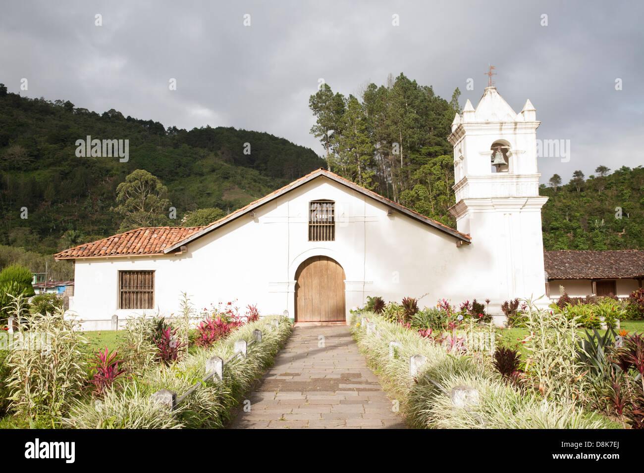 Iglesia San Jose de Orosi, Orosi, Orosi Valley, Highlands, Costa Rica - Stock Image