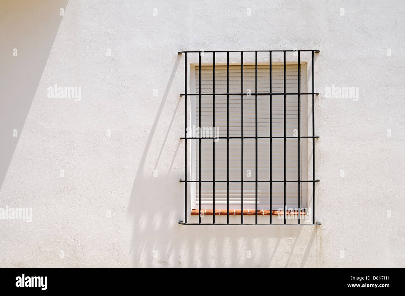 vergittertes Fenster - Stock Image