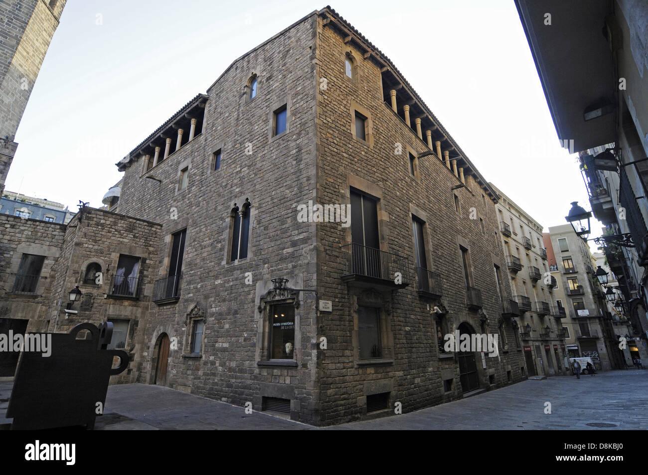 Museu de Historia de la Ciutat - Stock Image