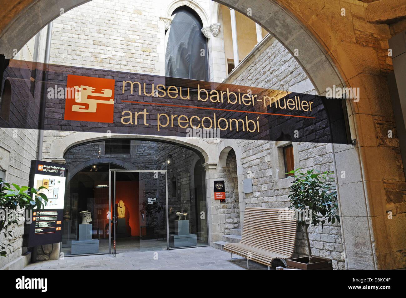 Museu Barbier Mueller - Stock Image