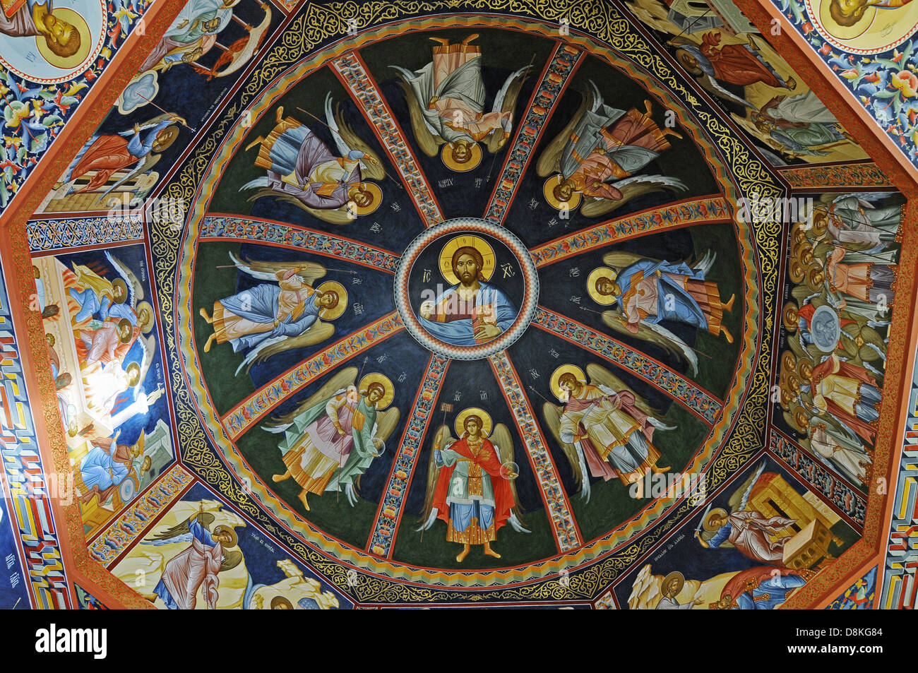 ceiling painting - Stock Image