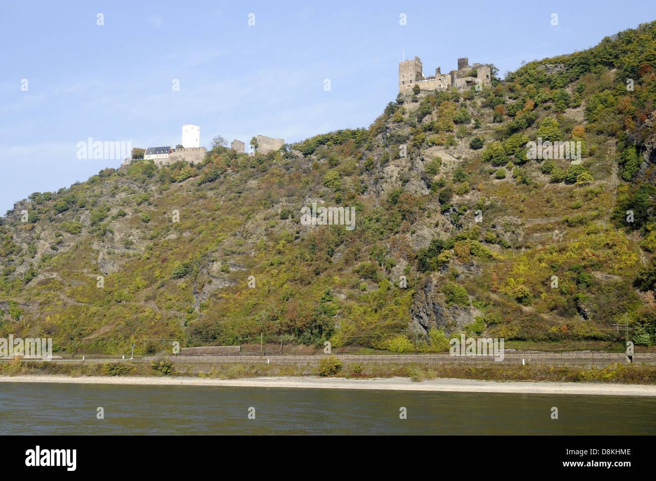 Fluss Rhein - Stock Image