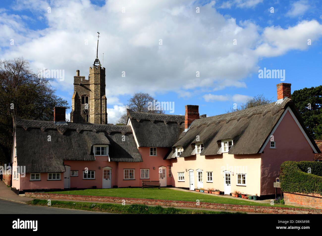 Parish church of St Marys, Cavendish village, Suffolk County, England, Britain. - Stock Image