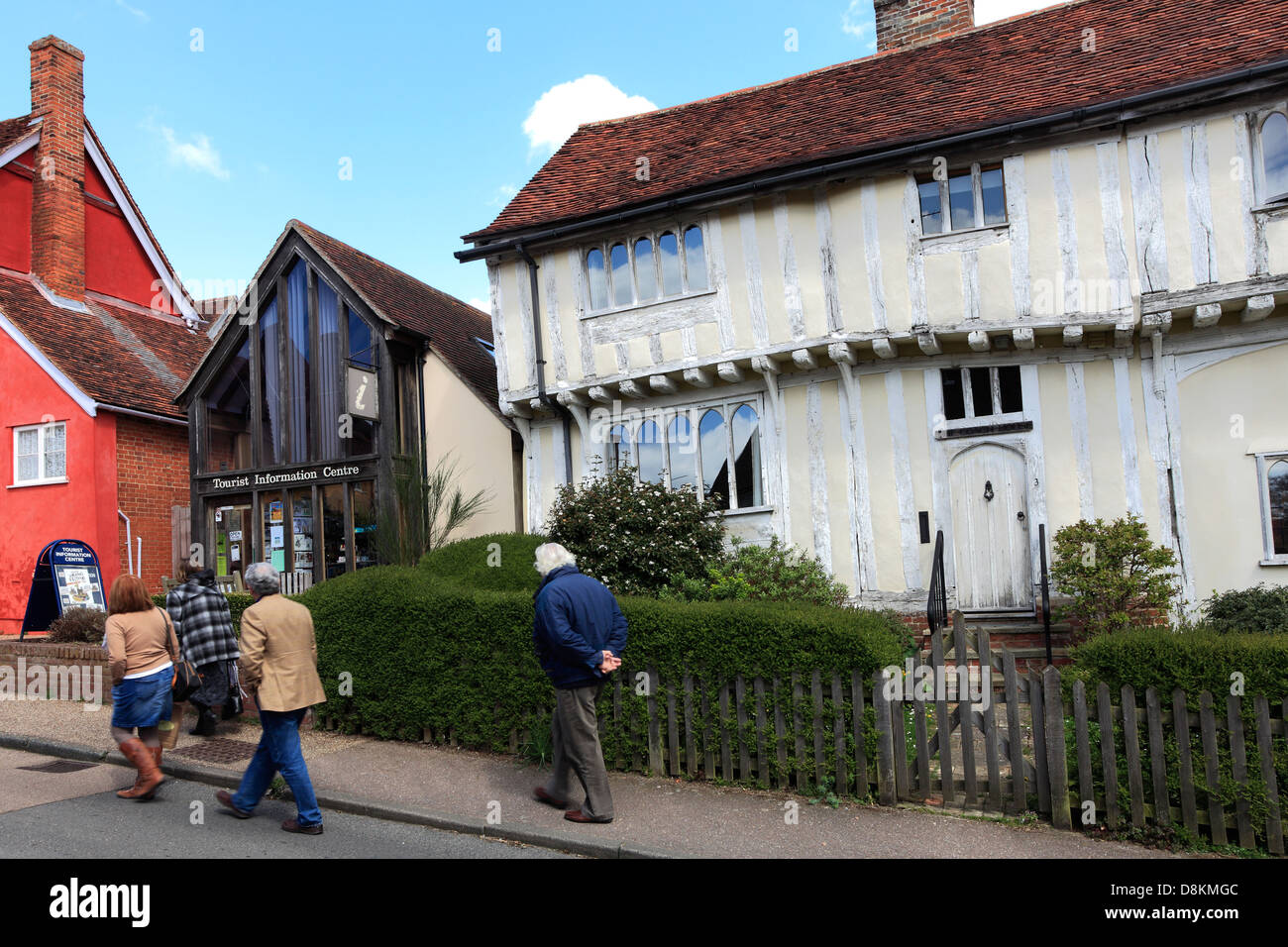 Tourist Information Centre, Lavenham village, Suffolk County, England, Britain. - Stock Image