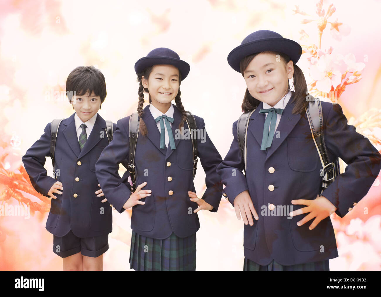 Elementary students in uniform