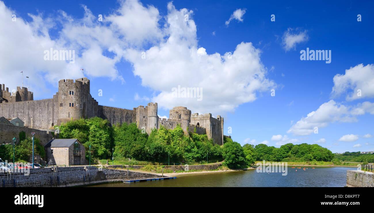 Pembroke Castle Pembroke Pembrokeshire Wales - Stock Image