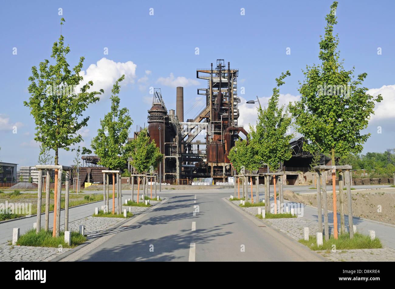 former steel plant - Stock Image