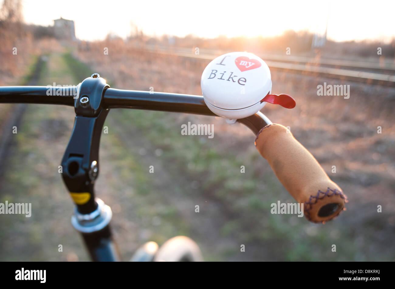 """Sunlite /""""I Love My Bike/"""" Bicycle Bell Chrome"""