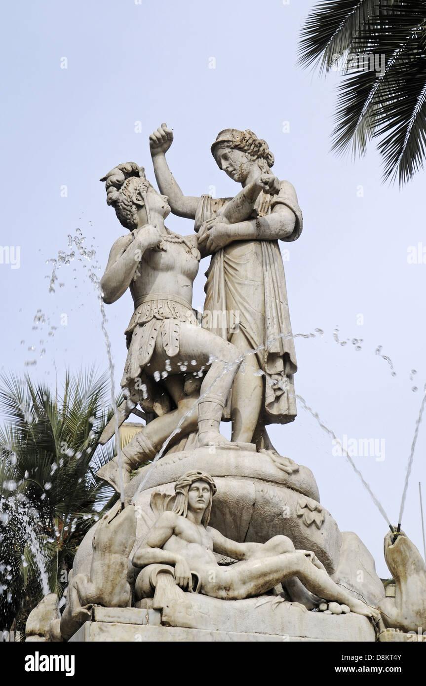Brunnen zur Erinnerung an Simon Bolivar - Stock Image