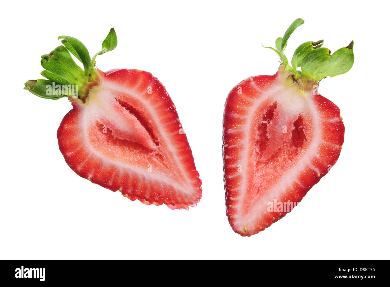 strawberry cut in half stock photos strawberry cut in half stock