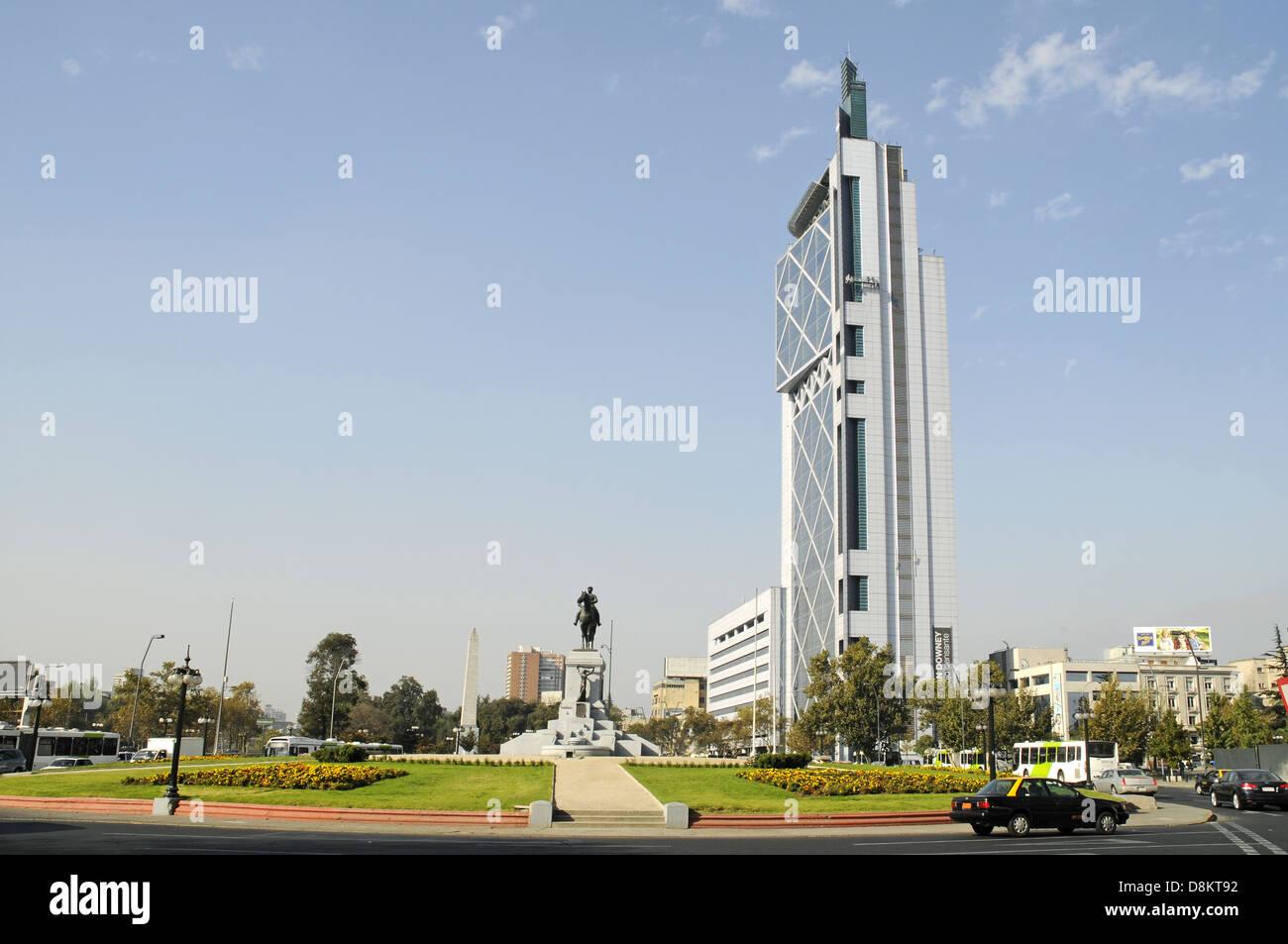 Plaza Baquedano - Stock Image