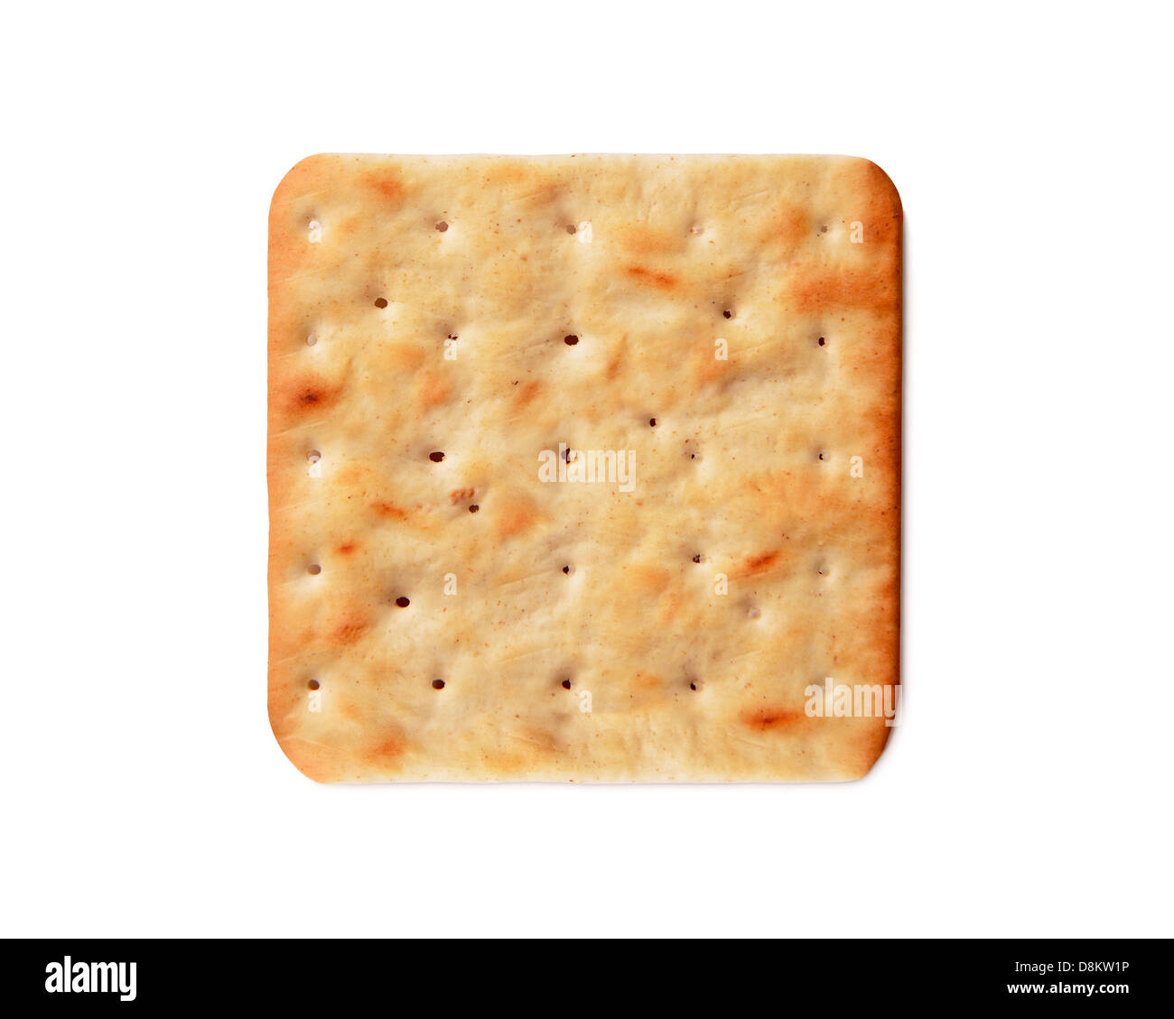 Cream Cracker, Cut Out. - Stock Image