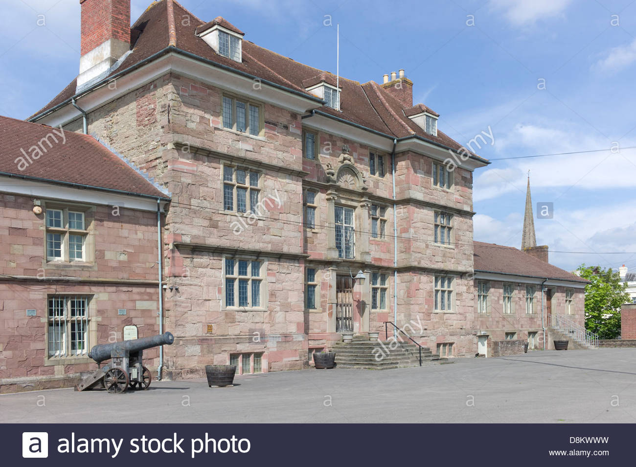 Royal Monmouthshire Royal Engineers headquarters, Monmouth, Wales, UK Stock Photo