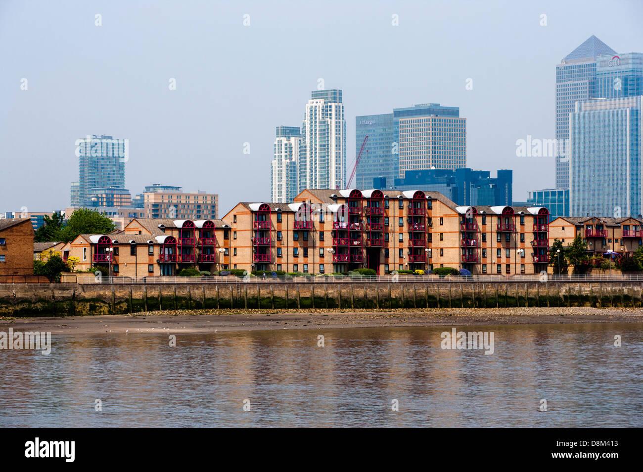 Caledonian Wharf Isle of Dogs London E14 - Stock Image