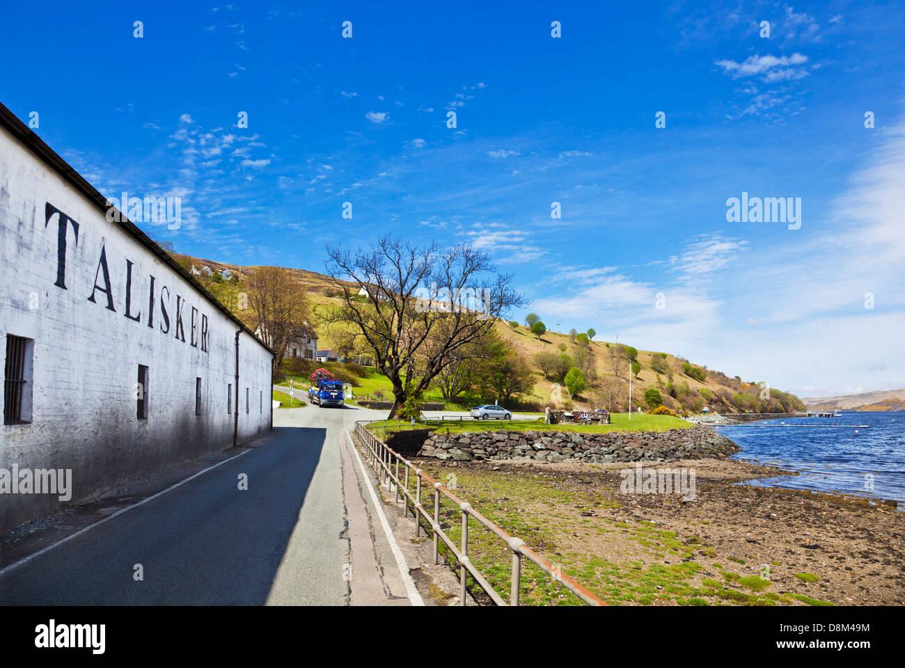 Talisker distillery buildings exterior Isle of Skye Highlands and Islands Scotland UK GB EU Europe - Stock Image