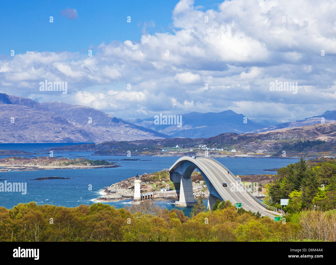 The Skye bridge connecting the scottish mainland with the Isle of Skye Highlands and Islands Scotland UK GB EU Europe - Stock Image