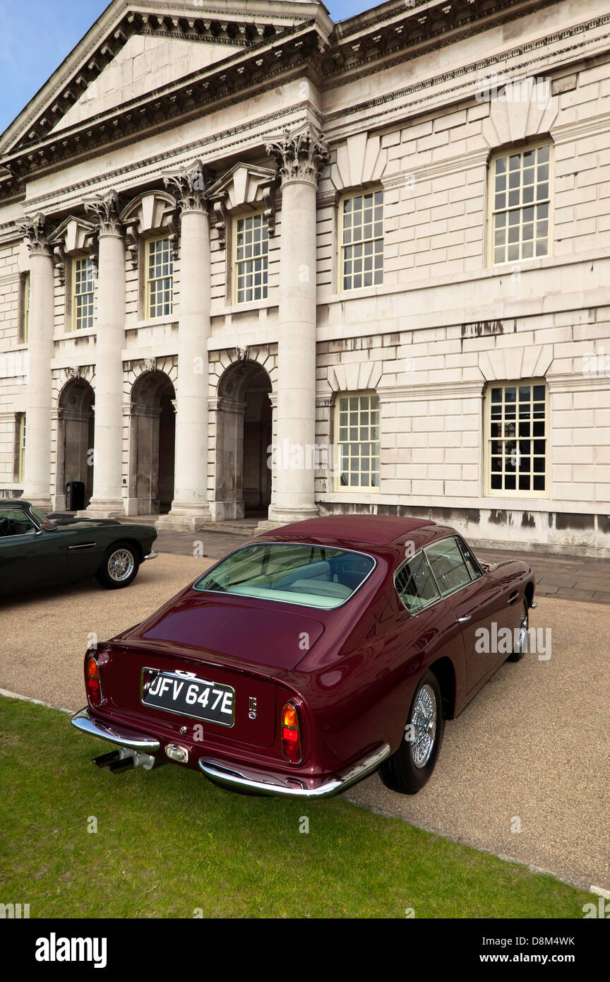 Rear View Of A Classic Aston Martin Db6 On Display At The Old Stock Photo Alamy