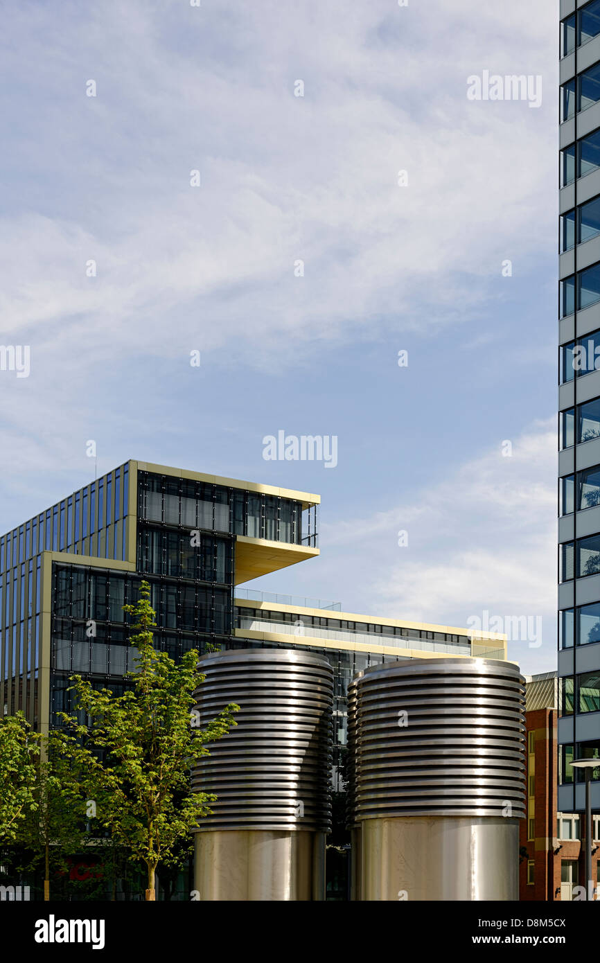 Modern architecture, Valentinskamp, Hamburg, Germany - Stock Image