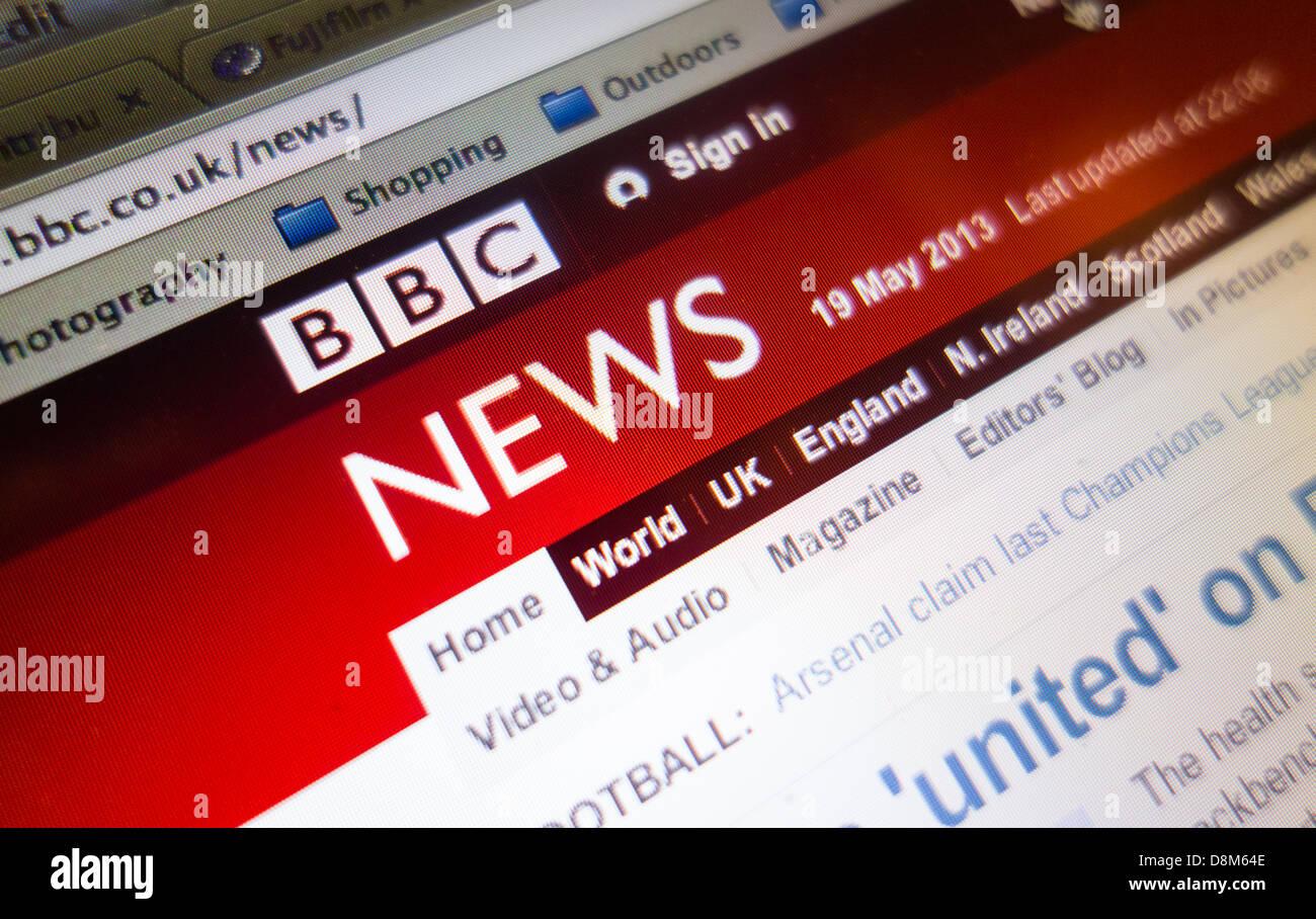 BBC News homepage - Stock Image