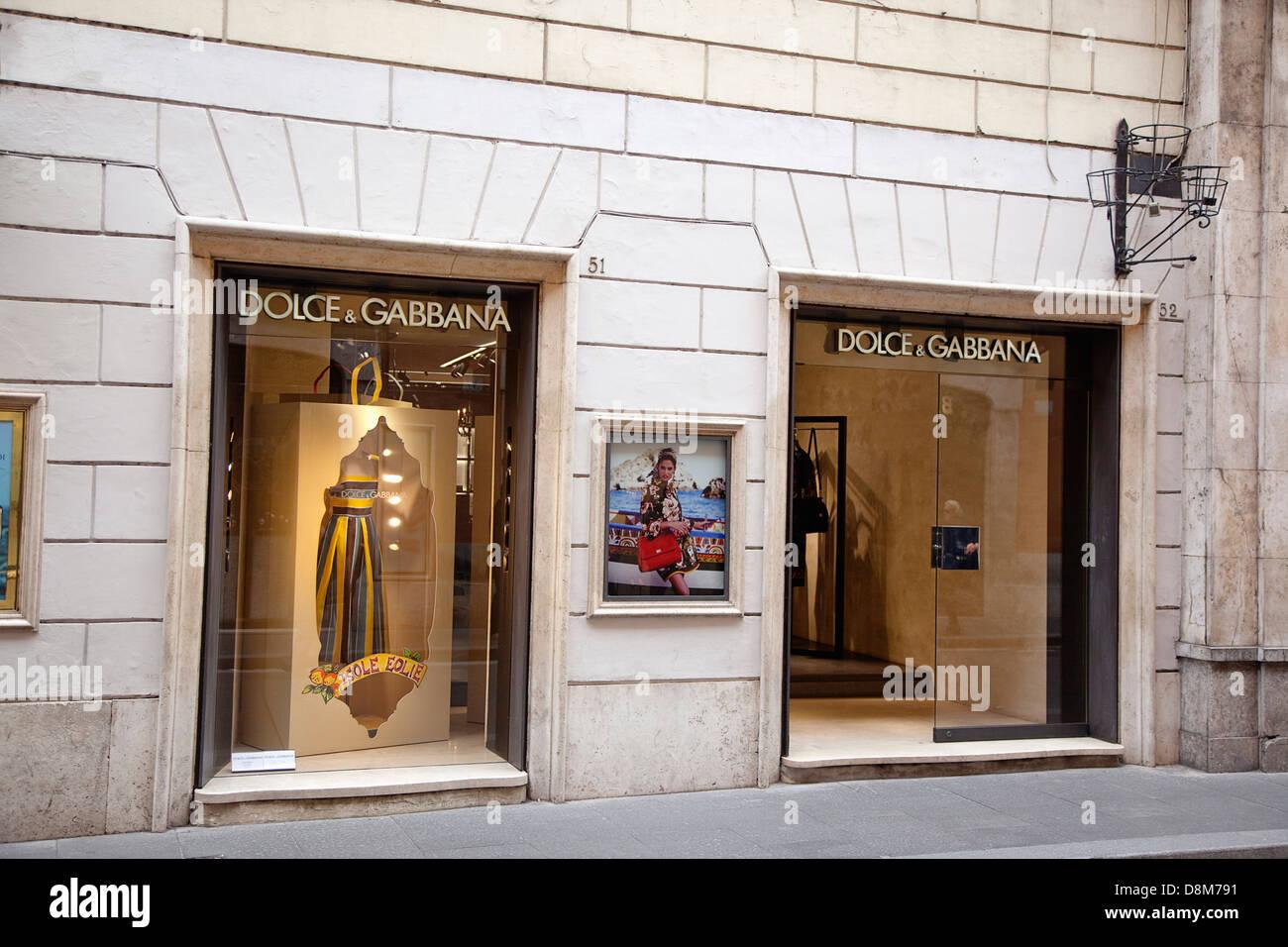 Italy, Lazio, Rome, Via del Condotti, Exterior of the Dolce and Gabbana shop. - Stock Image